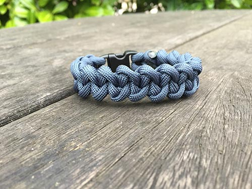 The Viper Paracord Bracelet Single Colour Survivalbands Uk 550