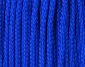 Electric blue paracord