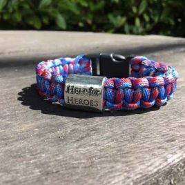 Help for Heroes Charmed Paracord Bracelet