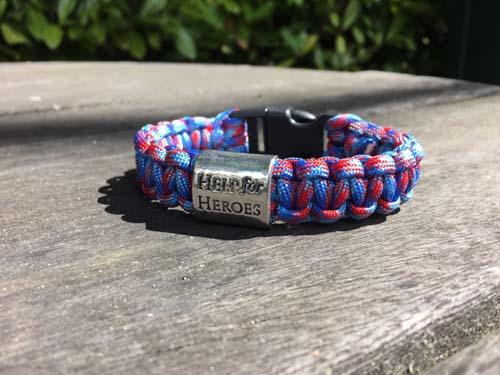 help for heroes paracord bracelet