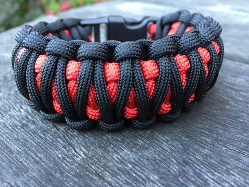 King Cobra Paracord Bracelet Two Colours Survivalbands