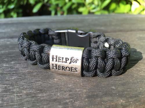 Paracrod Help for Heroes Bracelet in Black Hawk.