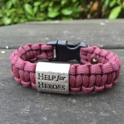 Limited Edition Paras Help for Heroes Paracord Bracelet.