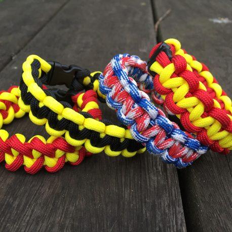 Two colour Cobra Paracord Bracelet