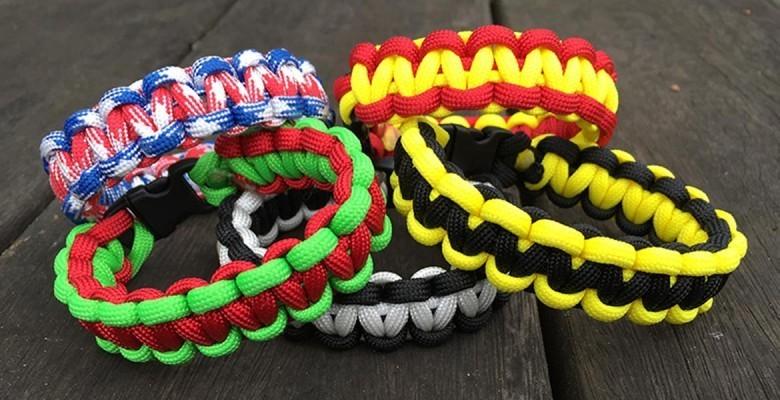 UK 550 Paracord Bracelets & Survival Bands