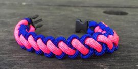Curling paracord Survival wristband