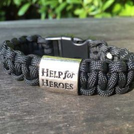 Help for Heroes Black Ops Special Edition Paracord Bracelet