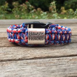 Help for Heroes Charmed Patriotic Edition Paracord Bracelet