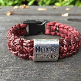 Help for Heroes Firefighters Special Edition Paracord Bracelet